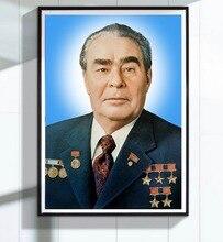 Leonid ilyich brezhnev CPSU Portrait Soviet Union Leader Painting Decorative Wall Canvas Sticker Posters Decor Gift