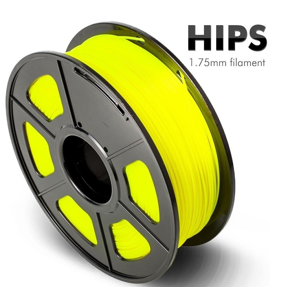 Filamento de impresora SUNLU HIPS 3D 1,75 MM 1KG HIPS 3d filamento de impresión soporta precisión de varilla ABS plástico +/-0,02mm