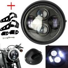 Adaptateur de phare rétro pour Honda   CG125 rétro, phare de moto pour Honda 125 Harley Dicati, café Racer 6.2, Grill à lumière à balles
