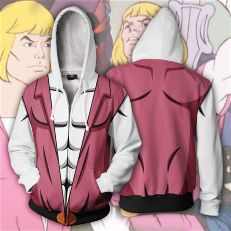 He-Man и the Masters of the Universe Prince Adam, костюмы для косплея, худи He-Man, толстовки на молнии с 3D принтом, Толстовки, Толстовки, косплей