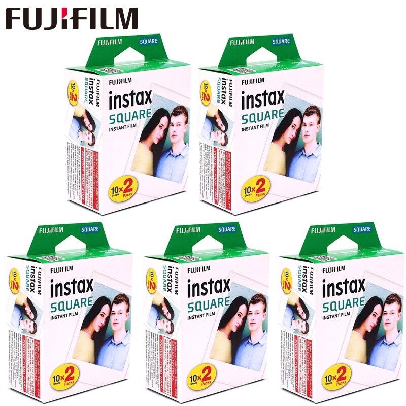 Fujifilm Instax carré blanc bord noir Films Photo papier (10-100 pièces) pour Instax SQ10 SQ6 instantané appareil Photo partager SP-3 imprimante