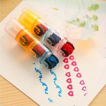 6pcs/set Combination Pen Shape Stamps Set DIY Stamp Educational Toys for Kids Scrapbooking Inkpad Stamp Seal Handmade Stationery