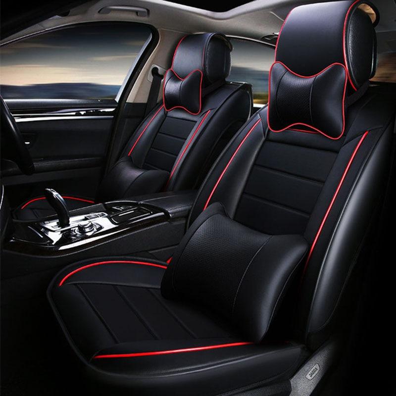 Fundas de asiento de coche fundas de asientos de coche cojín accesorio de cuero para nuevo ford fiesta mk7 sedan edge everest mustang 2013 2012 2011