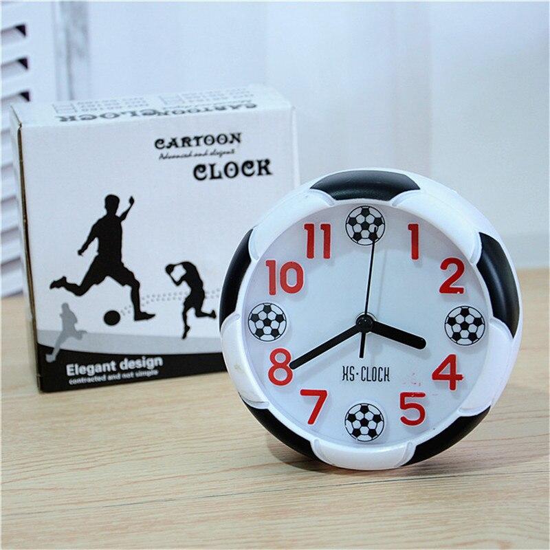 Creative Football Alarm Clock Desktop Decoration Soccer Ball Alarm Clocks Desk Clock for Bedroom 2018 World Cup Fans Gift