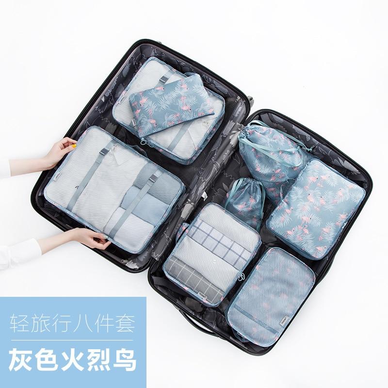 Fuente del fabricante de bolsas de viaje equipaje paquetes de bolsas de viaje maletas ropa ocho juegos