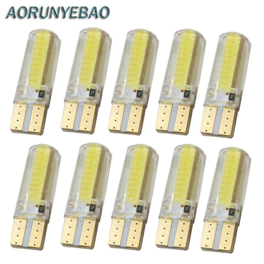 10x newest t10 194 168 w5w 6smd 5730 car led silicone shell auto dome parking lights car side wedge light lamp bulb car styling AORUNYEBAO 10pcs Car T10 194 W5W COB Silicone shell LED Lights auto Side Wedge Light marker Lamp Bulb Parking lights 12V White