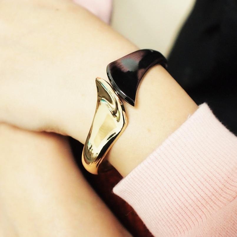 Fashion Alloy Big Cuff Bracelets For Women Charm Metal Statement Bangles Bracelets Accessories Jewelry 2019 UKMOC
