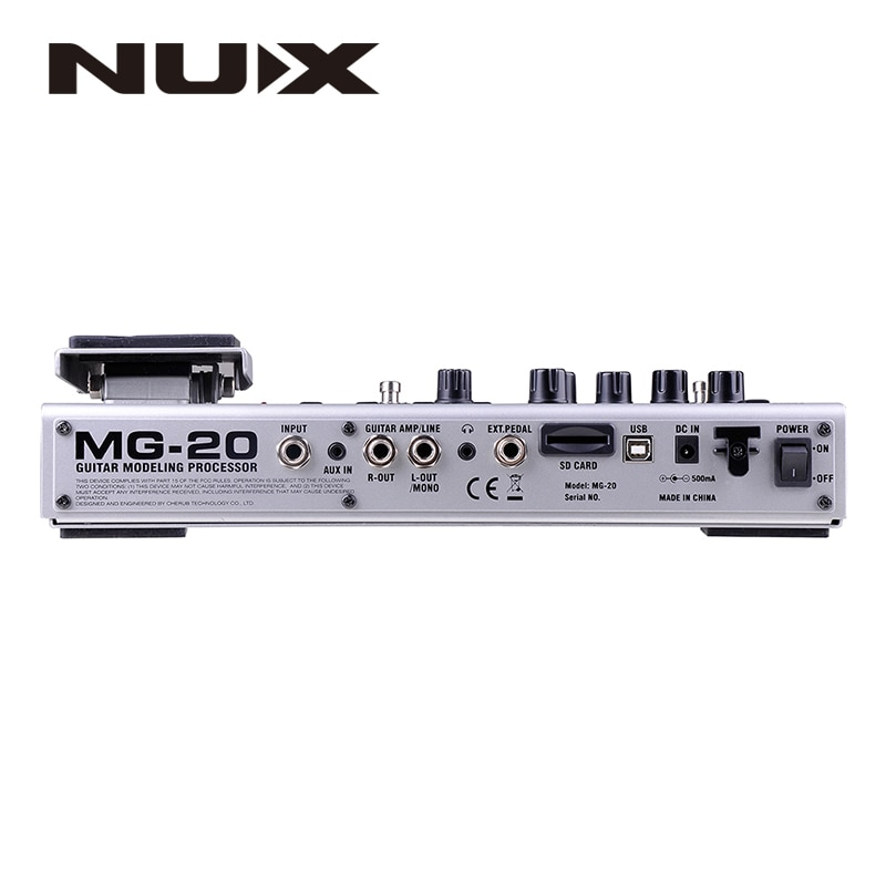 NUX MG-20 Guitar Multi-effects AMP Pedal Black Digitech Multi Effects Modeling Processor Guitarra Loop/ Volume enlarge