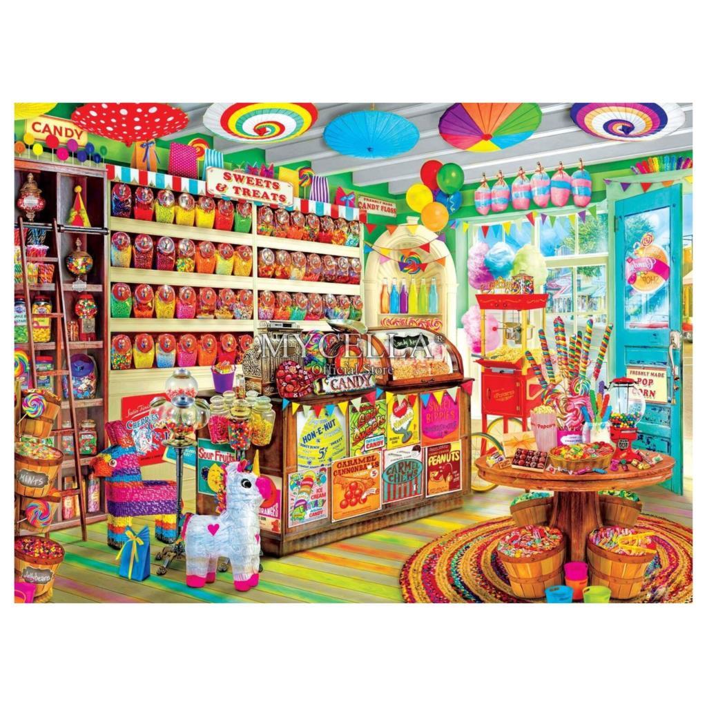 Уголок магазина конфет полная Алмазная вышивка 5D DIY Алмазная картина мозаика Вышивка крестом Рукоделие Ремесла домашний Декор Рождество