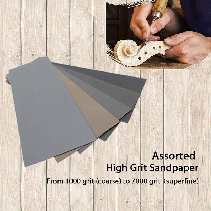 20 sztuk papieru ściernego na mokro na sucho, papier ścierny o - Narzędzia ścierne - Zdjęcie 6