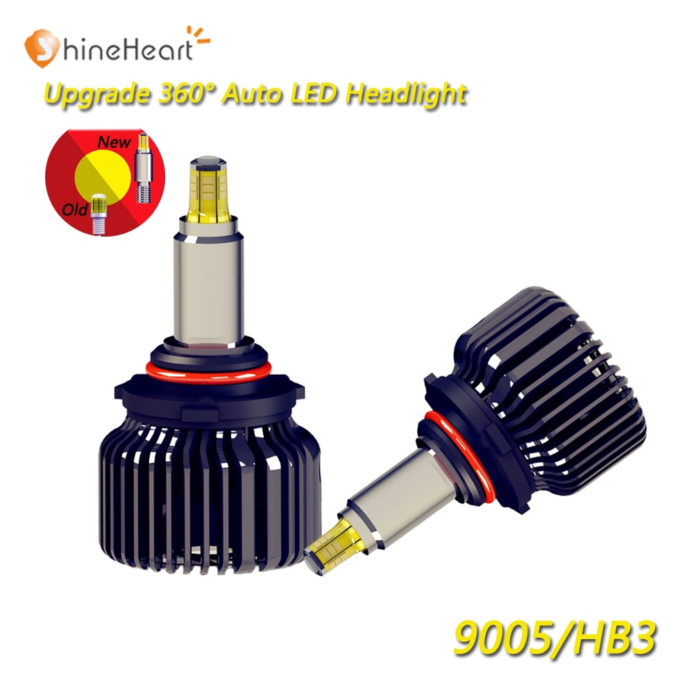2019 HOT selling new LED bulb 360 degree bright 12V H7 H11 9005 9006 HB3 HB4 90W 9000LM car LED headlight bulbs with 6000K 4300K