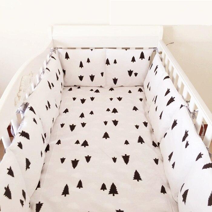 6 шт., Комплект постельного белья для кроватки с изображением дерева, детский бамперный комплект, детские постельные принадлежности, просты...
