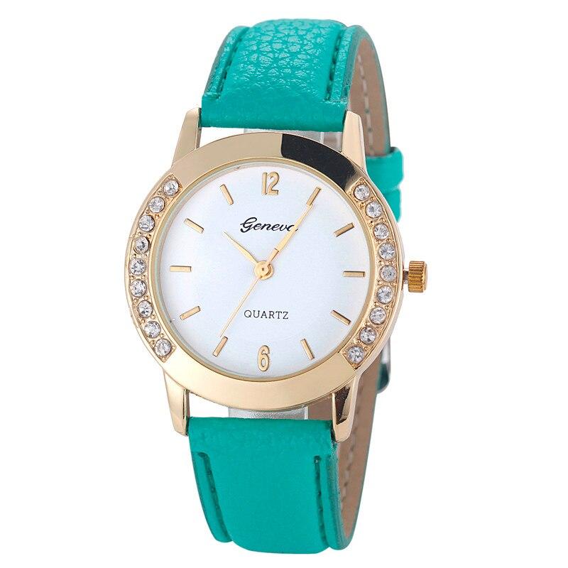 ¡OFERTA 2020! Relojes de pulsera de cuarzo de piel analógica con diamantes de moda para mujer, gran oferta