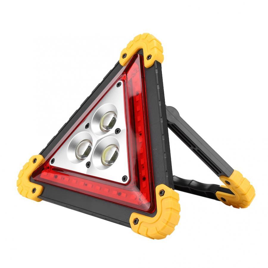Señal de parada de seguridad de emergencia multifunción de 30W para coche con luz de advertencia LED roja con 3 uds COB + 36 Uds