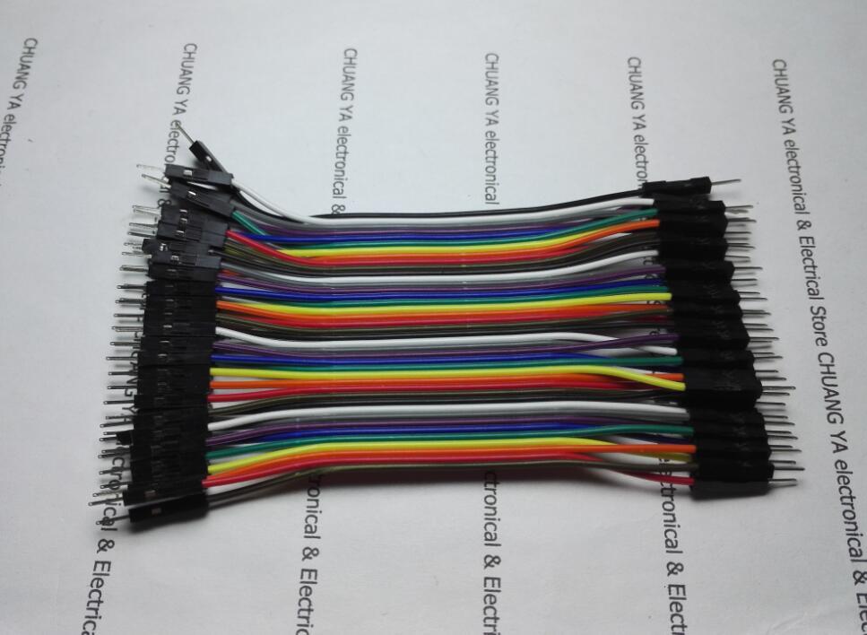 40 p 40PIN 2.54mm Colorido fio DuPont terminal macho para Cabos de extensão macho para fêmea para fêmea 10/ 21/30/40 cm