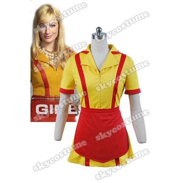 2 chicas rotas Max Carolina camarero uniforme vestido Cosplay disfraz