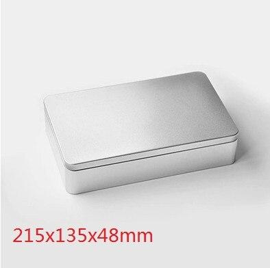 Tamaño 215x135x48mm caja de lata grande plana/lata de comida/caja de metal de regalo/caja de cosméticos/caja de lata de dulces