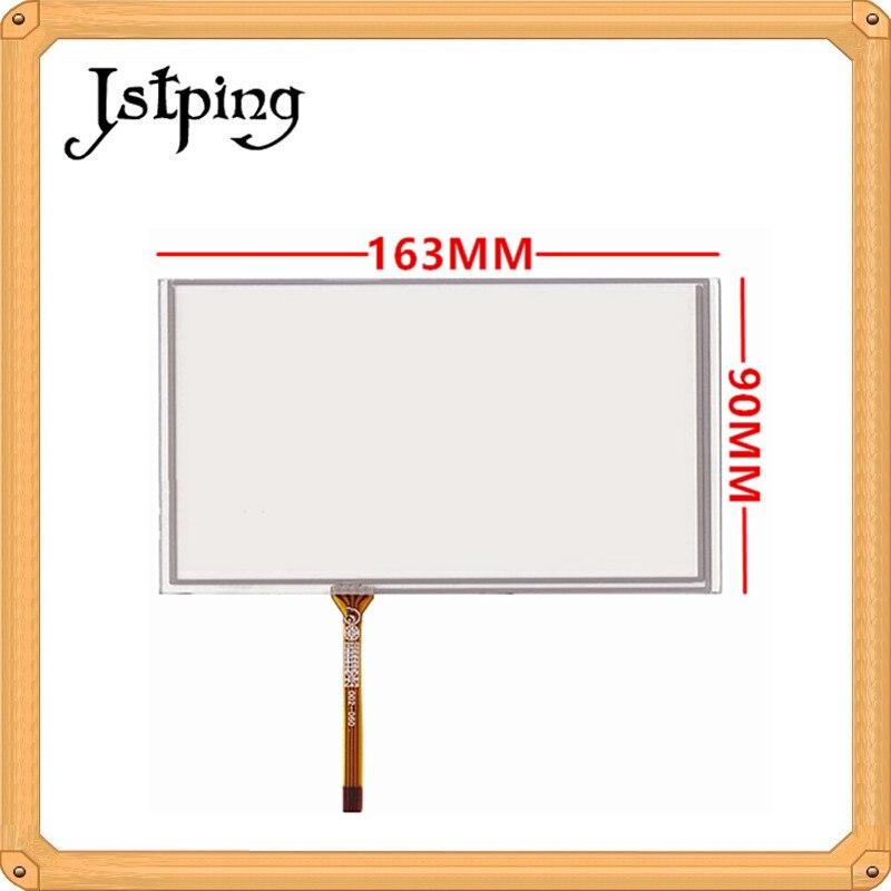 Jstping 7 pulgadas cuatro 4 panel de pantalla táctil de resistencia de alambre 163mm * 90mm 163*90mm 4 pines GPS para coche sensor táctil externo digitalizador de vidrio