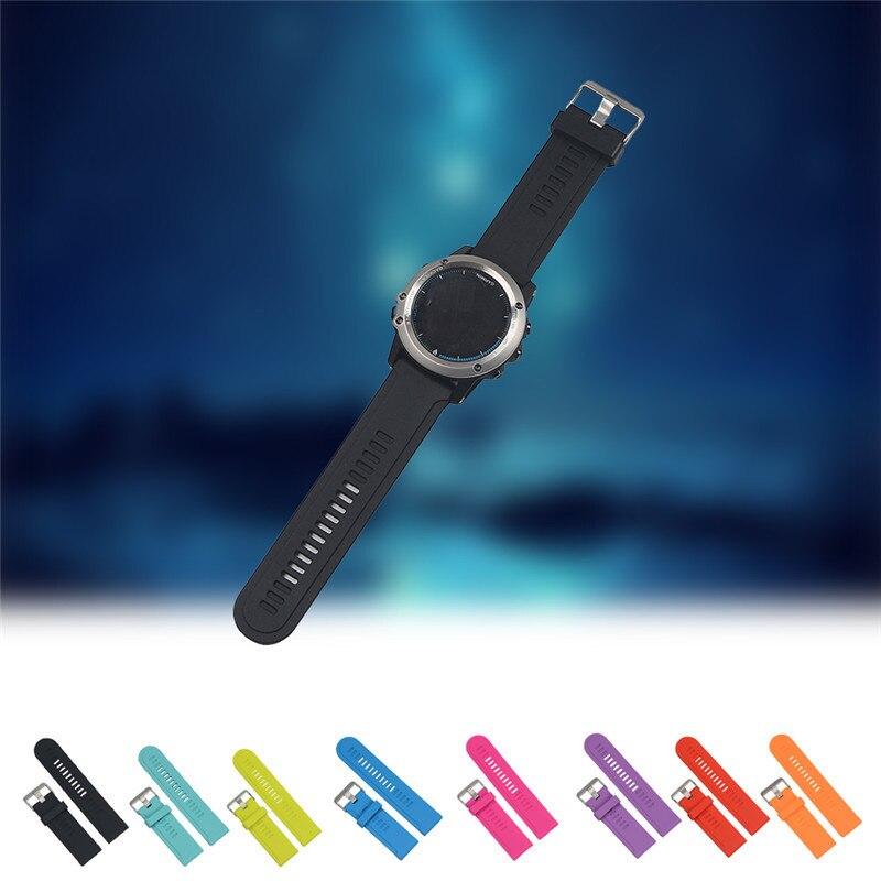 Universal correa de silicona de la correa de reloj para Garmin D2/Fenix/Fenix2 Fenix3/Fenix3 HR/Quatix/ quatix3/Tactix
