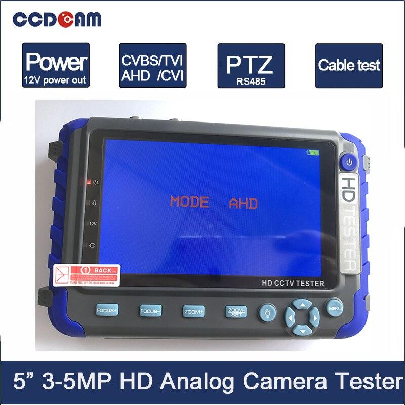IV8C CCTV camera monitor Professional CCTV testing tool 5 Inch display 8MP AHD TVI 8MP CVI CVBS CCTV Cam Tester Audio RS485 Test