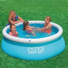 183cm famille piscine gonflable hors sol piscine enfant adulte enfants bleu jardin jeu extérieur piscine couverture piscine gonflable
