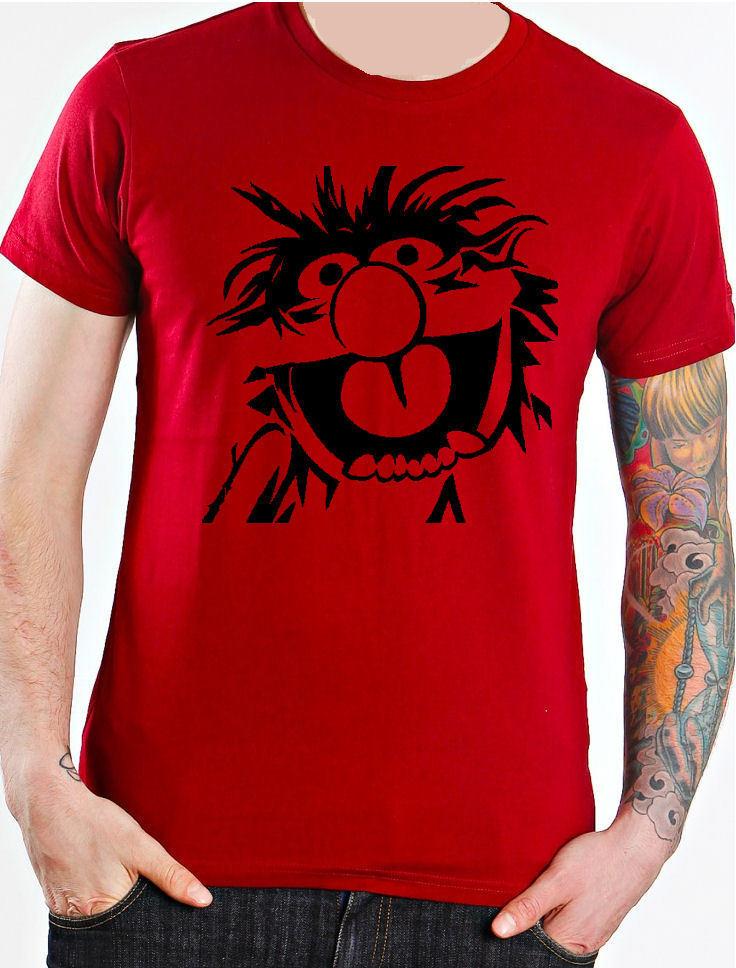 Animal Baterista Los Muppets 80 Camiseta de verano de manga corta Camiseta de moda