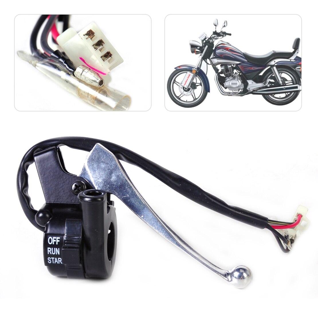 Neue Motorrad Schwarz Gas Gehäuse Kill Switch Hebel auf/aus-steuerung Assembly fit für Yamaha PY50 G50T Peewee PW50