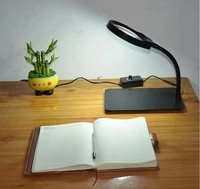 5x 8x 10x new style lighted magnifier table top desk led lamp reading large lens magnifying glass adjustable light wholesales