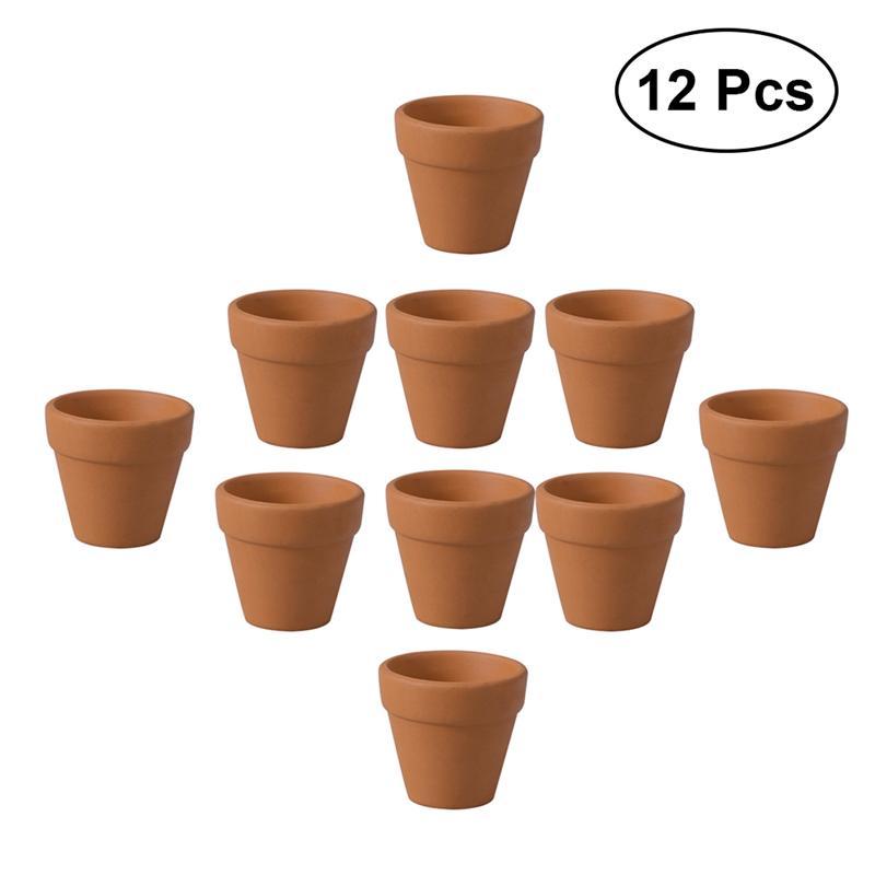 2018 12 Uds 3x3cm pequeño maceta de terracota arcilla cerámica maceta Cactus macetas suculentas macetas para plantas
