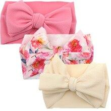 Bandeau Turban imprimé pour bébé fille   3 pièces, bandeau doux pour nouveau-né, bandeau pour bébé fille, accessoires cheveux