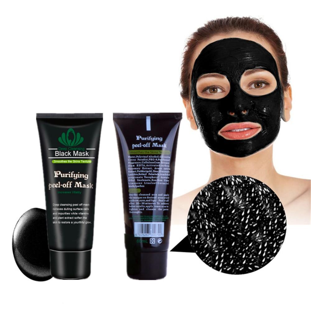Black spot Remover Mask Nose Face Blackhead Pack Peel Off Head Acne Treatments Charcoal Deep Clean 1Pcs