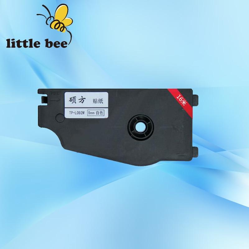 Cinta de casete de etiqueta (Silver12mm) TP-L12ES para impresora de tubos SUPVAN TP80E cable ID impresora, máquina de letras electrónicas, marcador de cables