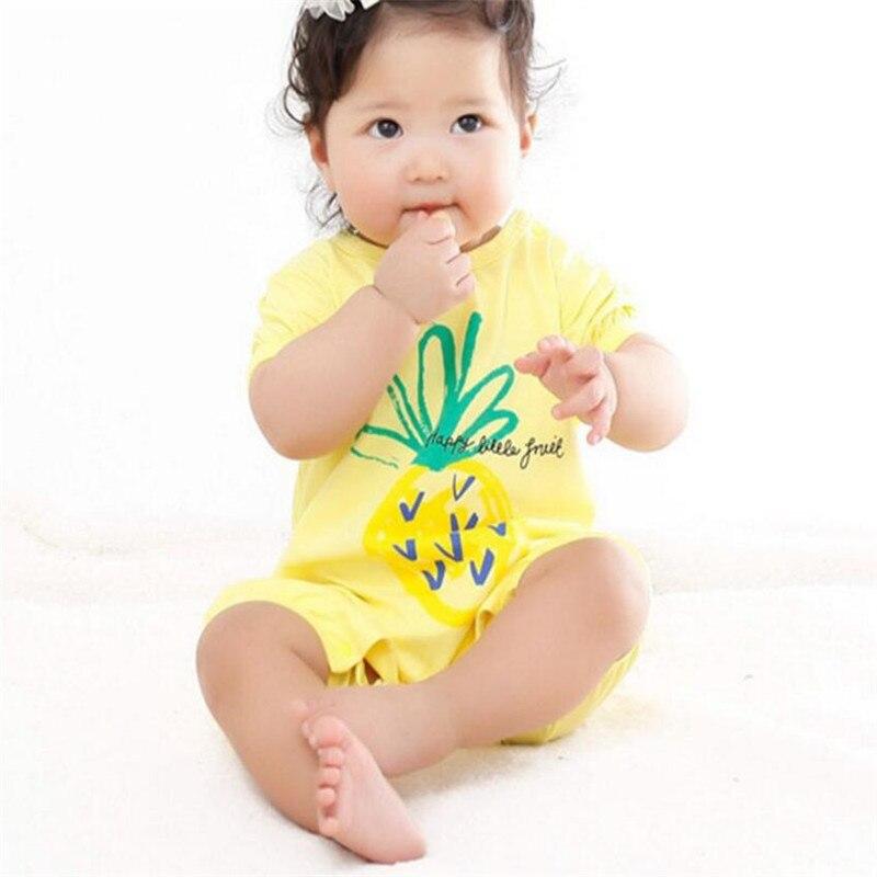 Happy Fruits mono de bebé para verano piña plátano peleles de sandía de algodón de manga corta bebé niño niña ropa de verano mono