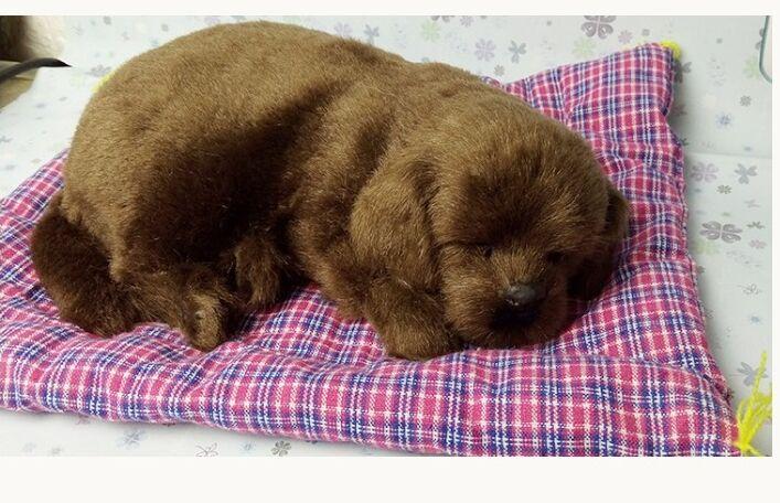 large 30x25cm sleepy Labrador retriever model with mat ,polyethylene& furs handicraft Figurines home decoration toy gift a2696