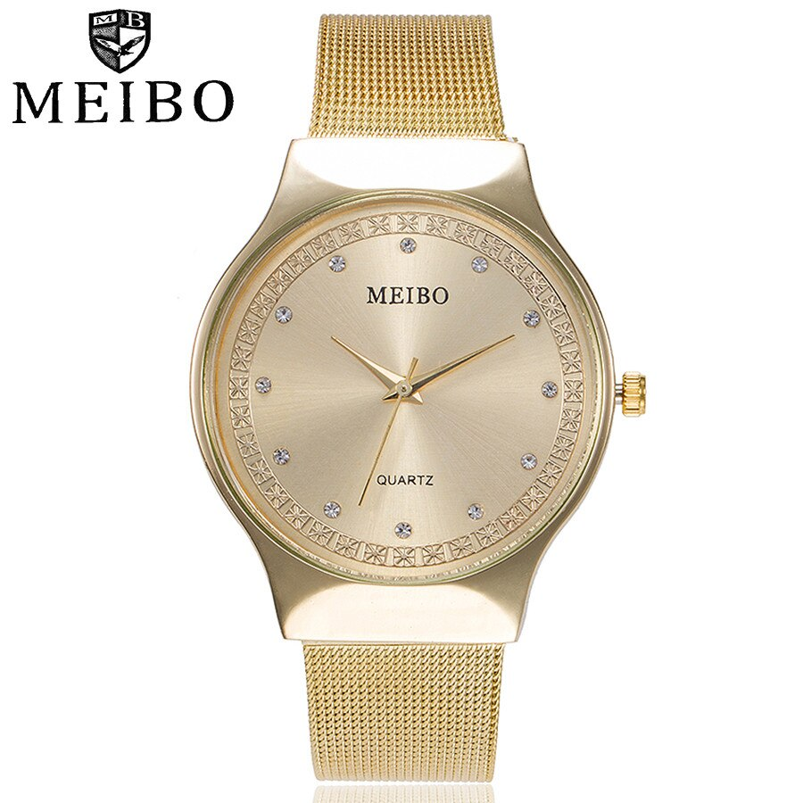 Femmes mujer horloge Montre-Bracelet À Quartz MEIBO relogio feminino En Acier Inoxydable Montre-Bracelet dames Reloj hombre mode heure B40