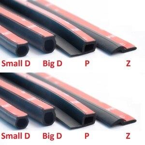 Image 3 - Автомобильное резиновое уплотнение типа P, 3 м, шумоизоляция, звукоизоляция, водонепроницаемые резиновые уплотнительные полосы, отделка краев, защита от пыли, резиновый герметик для автомобильной двери