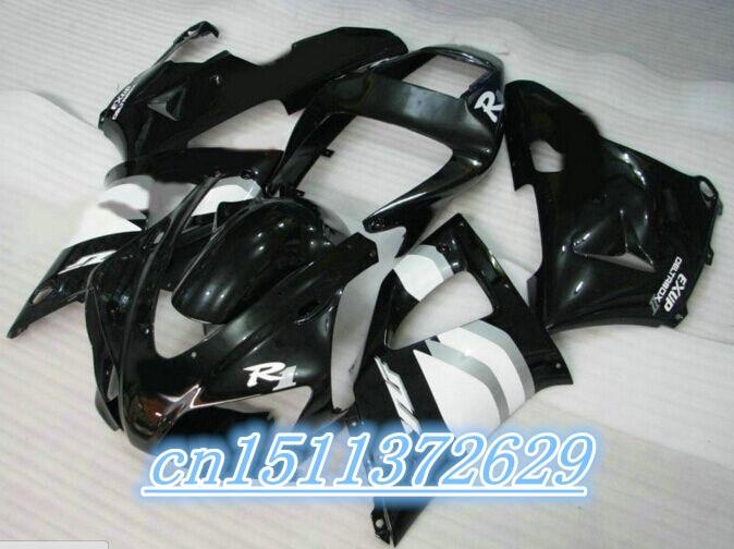 بو عالية الجودة fairings عدة ل 1998 1999 YZFR1 YZF R1 98 99 1998 1999 أسود أبيض هدية مجموعات