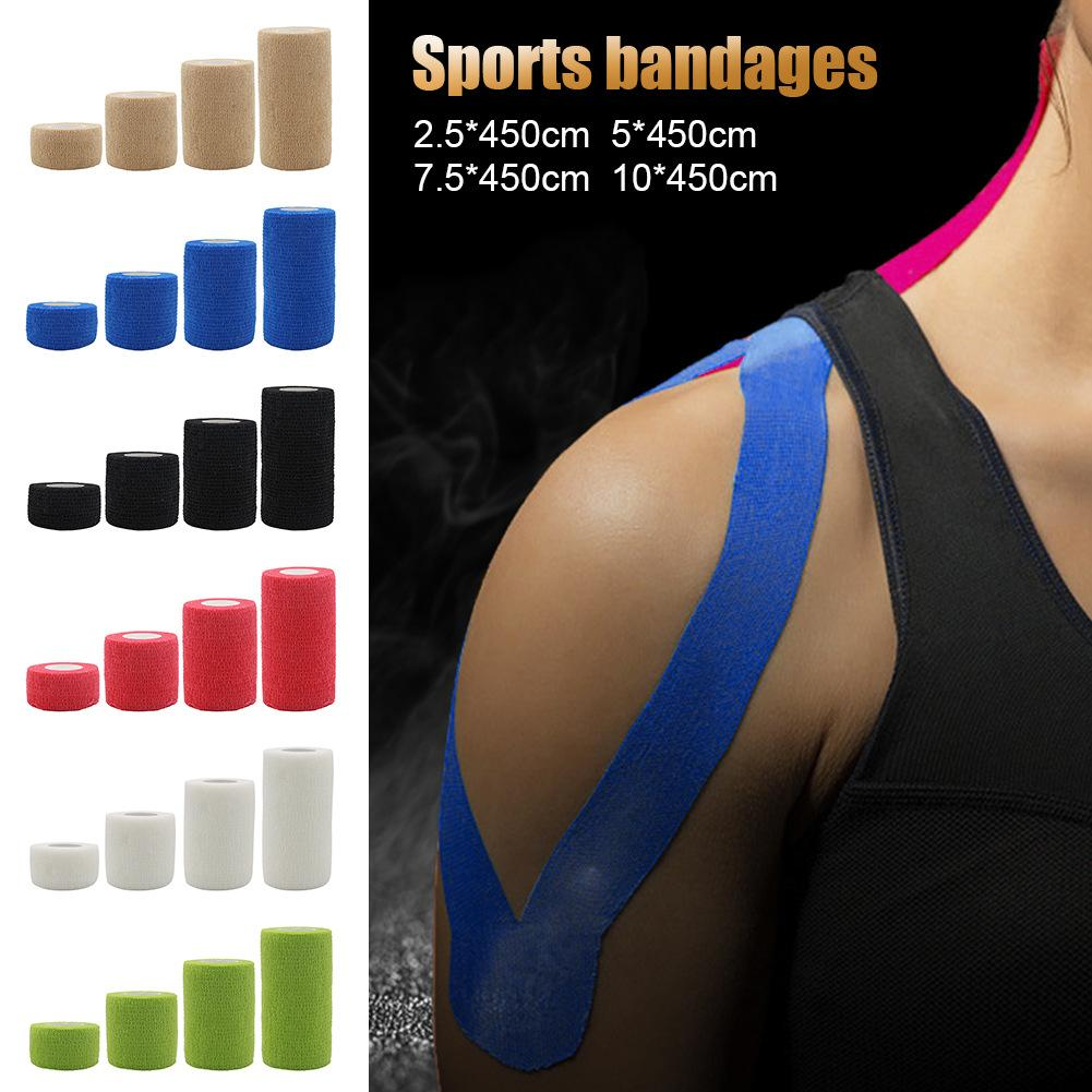 Fitness Team Sports Protection Elastic Bandage Color Nonwoven Fabric Self-Adhesive Elastic Bandage