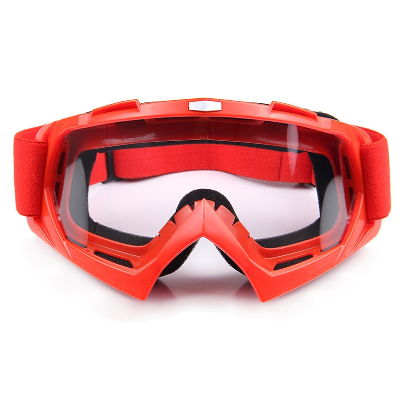6 colors Motocross Off-Road Racing Glasses Eyewear Ski Motorcycle Snowmobile ATV DH Skate Goggles Single Lens Clears hot snowboard off road racing glasses eyewear ski snowmobile atv dh skate goggles single lens clears