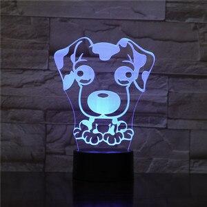 Прикроватные 7 видов цветов, меняющие Doberman, новинка, 3D светодиодные ночные светильники для детей, дома, Pinscher Luminaria, животные, собаки, настольн...