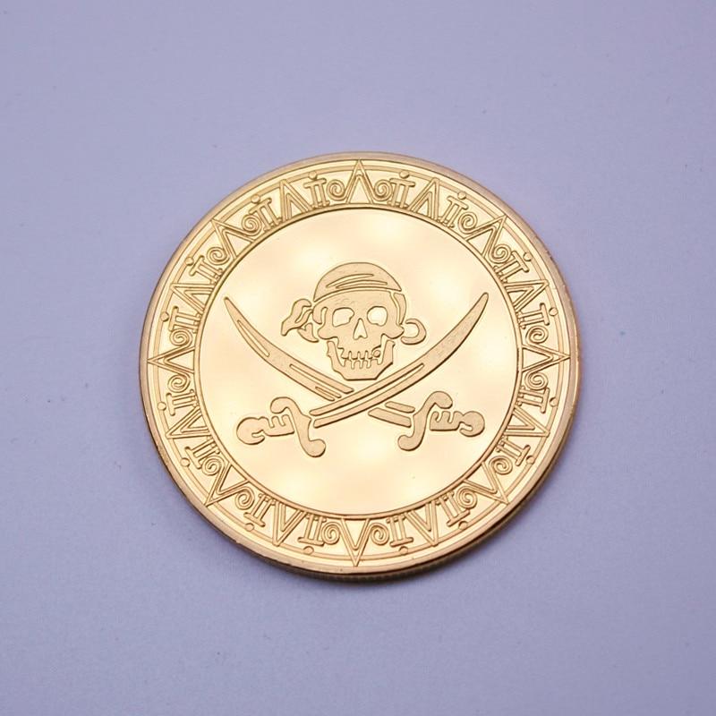 Metal pirate  treasure toy gold coins board game secret room game props children reward gift