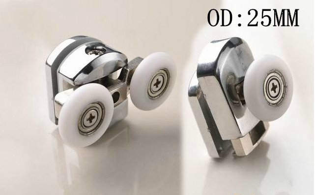 Circular arc shower room pulley shower room spring bathroom dual adjustable wheel double bowline OD:25MM