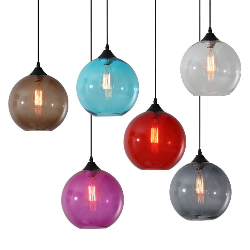Kolorowe rybki miski szklane żyrandol nowoczesny prosty bar cafe kreatywne oświetlenie dla jadalnia kuchnia domu oprawy oświetleniowe