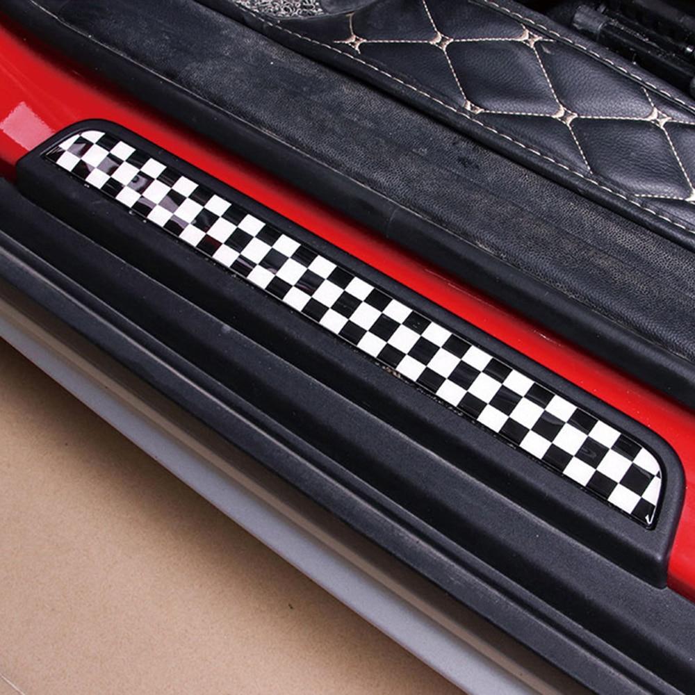 1 zestaw flaga union jack próg drzwi witamy płyta pedał Footboard naklejki dla MINI Cooper F54 Clubman F55 F56 Countryman stylizacja
