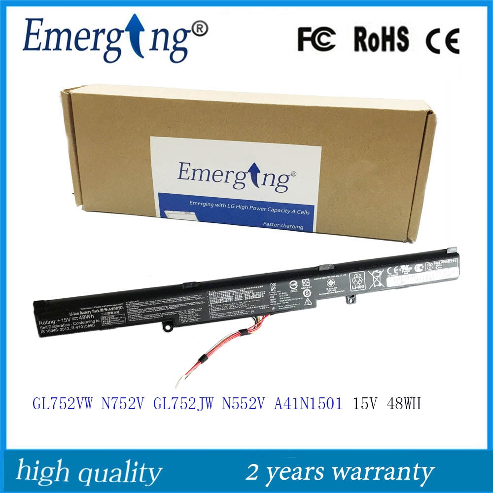 15V 48WH New Original Laptop Battery A41N1501 for ASUS  N552V N552VW N752 N752V N752VW GL752 A41LK9H