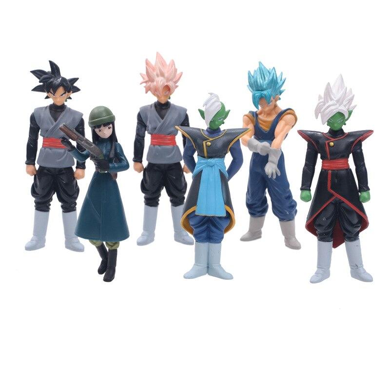 Anime Dragon Ball Super Saiyan Zamasu Goku Black God of Creation Vegetto Mai PVC Figure Collectible Model Toys