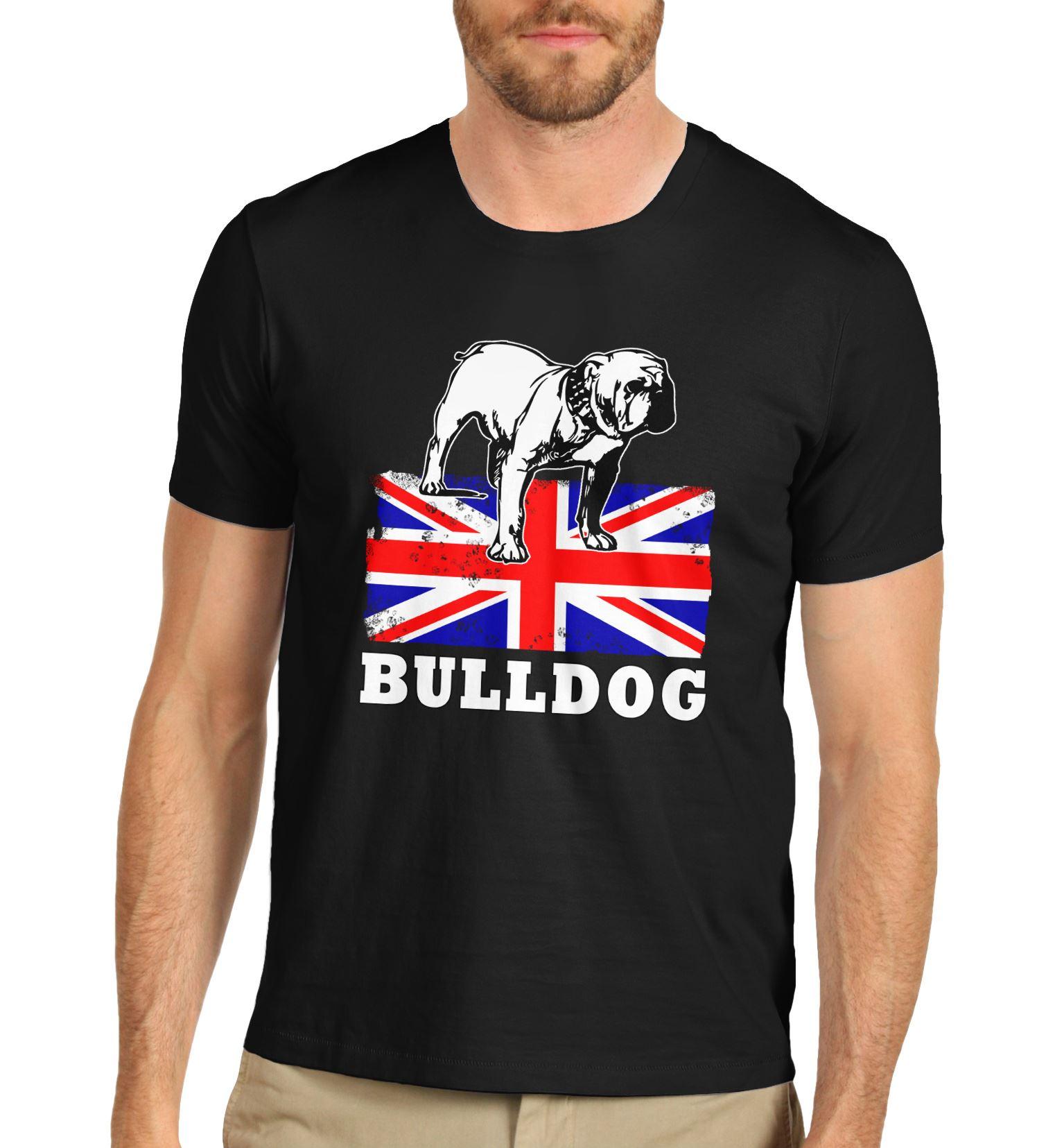 Camiseta de Bulldog británico con bandera de Union Jack para hombre, camiseta Cool Casual pride, camiseta Unisex para hombre, nueva camiseta de moda, camiseta de tamaño grande, ajax