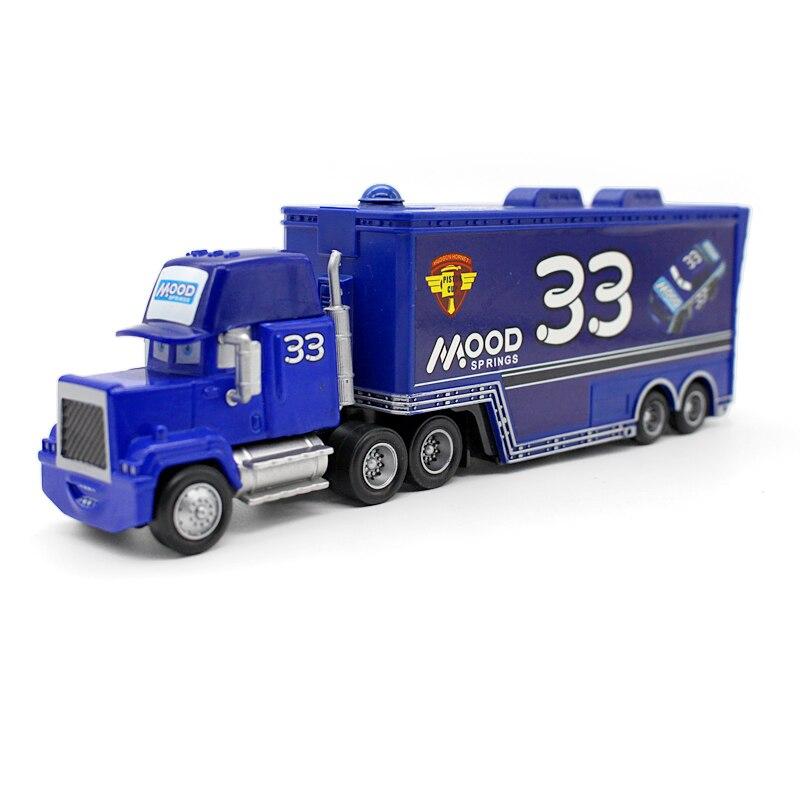 Disney Pixar coches No.33 Mack camión humor 155 fundición de aleación de Metal y plástico modelo de coche juguetes regalos para los niños