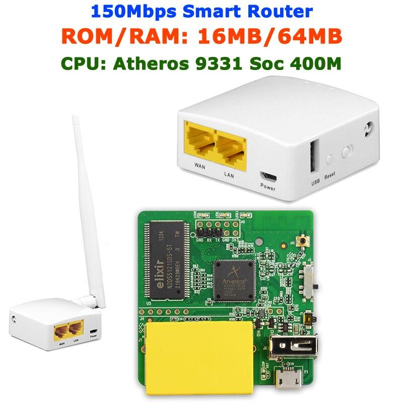 GL-AR150 AR9331 802.11n 150Mbps Firmware OPENWRT Mini WiFi Router WiFi repetidor OPENVPN Router de viaje antena interna/externa