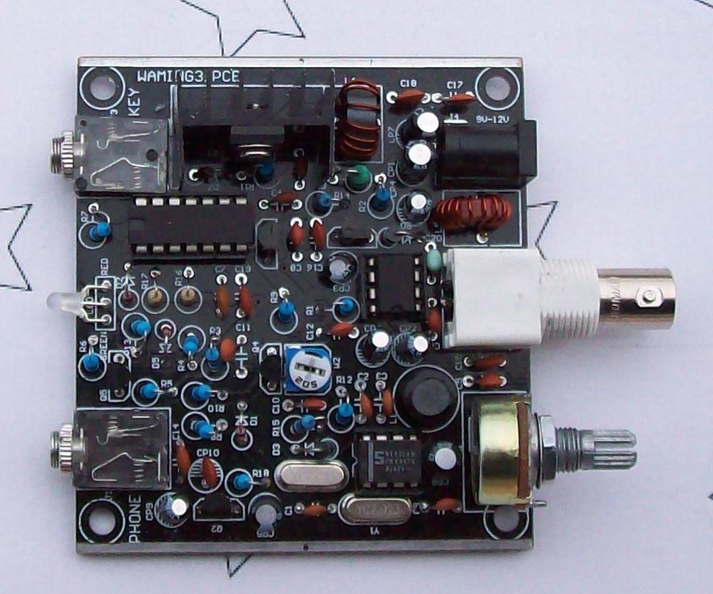 V3 Rana suena Radio QRP Telegraph transmisor CW receptor telégrafo de Radio de onda corta de la estación 7.023KHz KITS DIY